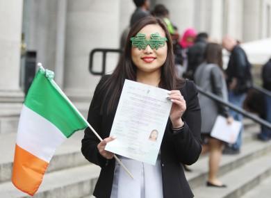File photo: Lina Chen at a previous Citizenship Ceremony.