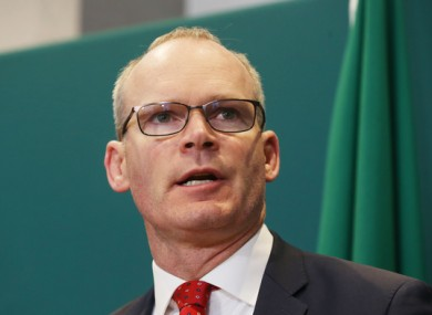 Simon Coveney was speaking on Morning Ireland this morning.