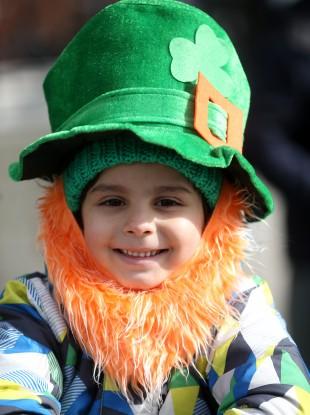 Caio Martini, aged 6, at last year's St Patrick's Day parade.