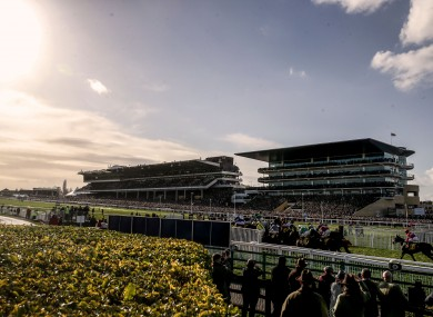 A view of the Gold Cup race in Cheltenham earlier this week.