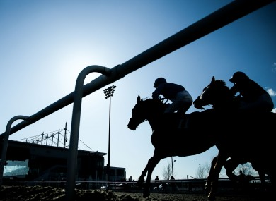 A view from Dundalk racecourse last Friday.