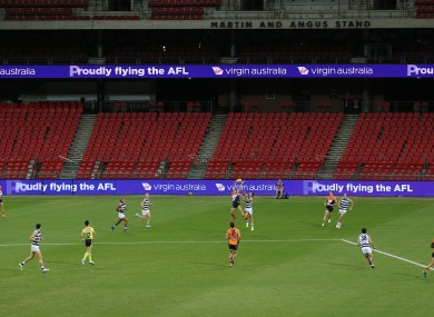 AFL action is currently shut down since the Round 1 games.
