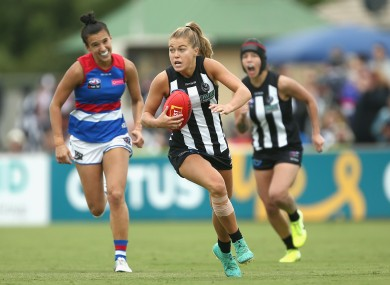 Collingwood and Mayo star Sarah Rowe facing Western Bulldogs this weekend.