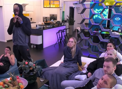 Residents in the German Big Brother household.