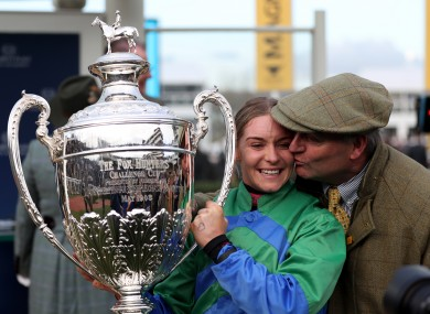 Maxine O'Sullivan celebrates with her father Eugene.