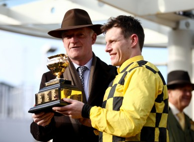 Willie Mullins and Paul Townend after winning the Gold Cup.