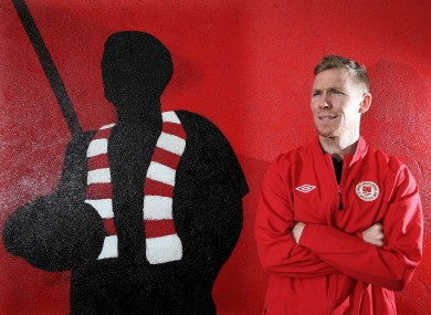 Former St Patrick's Athletic defender Conor Kenna won now works in Tallaght Hospital.