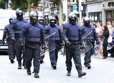 Members of the Garda Public Order Unit. File photo.