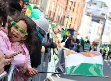 St Patrick's Day parade last year.
