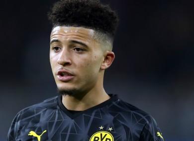 Borussia Dortmund star Jadon Sancho.