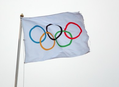 A file picture of an Olympic flag.