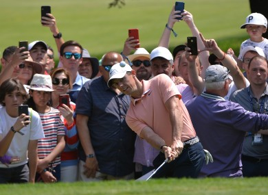 Rory McIlroy plays a shot onto the first green during the final round of the WGC - Mexico Championship.