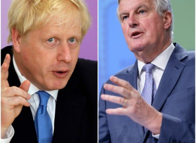 UK Prime Minister Boris Johnson and the EU's Michel Barnier