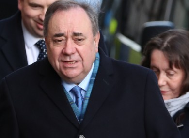 Former first minister of Scotland Alex Salmond.