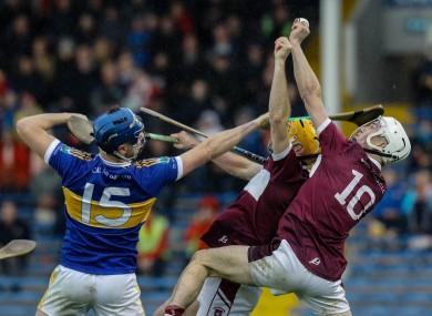 Action from last year's Tipperary senior hurling final between Kiladangan and Borris-Ileigh.