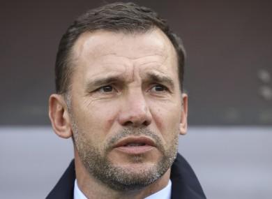 Ukraine coach Andriy Shevchenko.