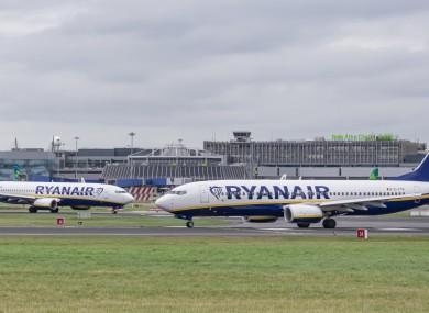 File photo. Ryanair planes.