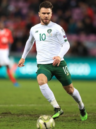 Scott Hogan was most recently capped by Ireland in last October's 2-0 defeat to Switzerland.