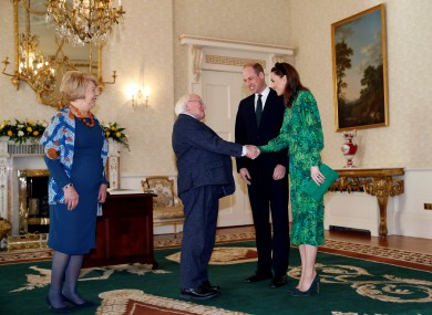 The Duke and Duchess of Cambridge meet with Sabina and Micheal D Higgins.