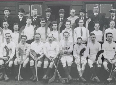 The Thomas McCurtains hurling team in 1922.