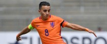 Nouri in action for the Netherlands' U19s.