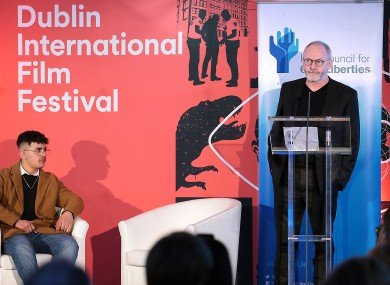 Actor Liam Cunningham who received the Lifetime Contribution Award.