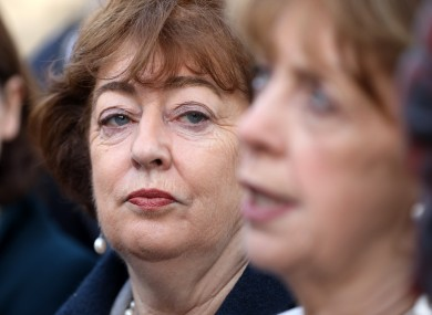 Social Democrats' Catherine Murphy with co-leader Roisin Shortall.