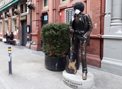 Phil Lynott statue outside Bruxelles in Dublin.