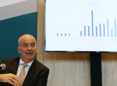 Chief Medical Officer Dr Tony Holohan at last night's Department of Health Briefing.