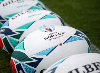 Rugby World Cup balls [file photo].