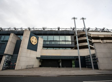 A view of Croke Park.