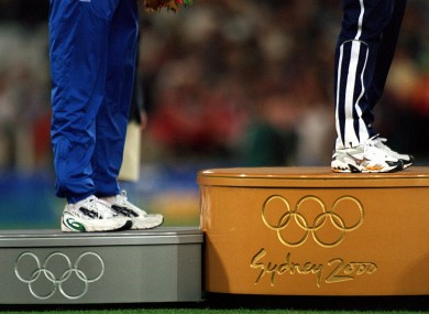 Olympic podium (file pic).