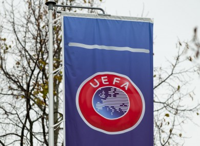 A view of the Uefa logo.