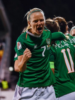 Ireland and SC Sand star defender Diane Caldwell.