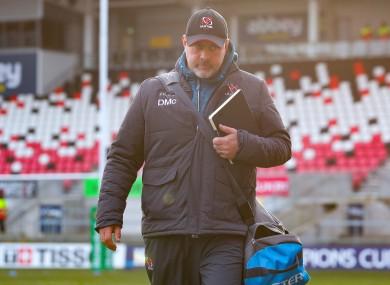 Ulster boss Dan McFarland.