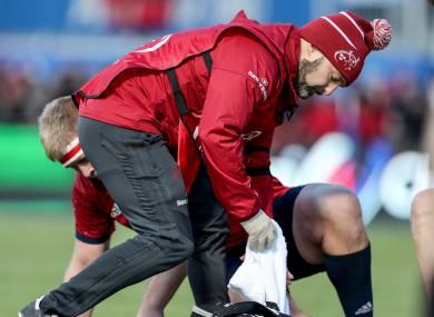 Munster rugby head of medical Jamie Kearns.