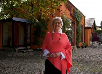 Winner Ethna Dorman outside her home.
