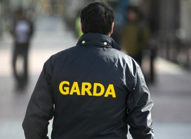 File photo of a garda in Dublin city.