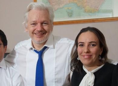 Assange with his partner Stella Moris