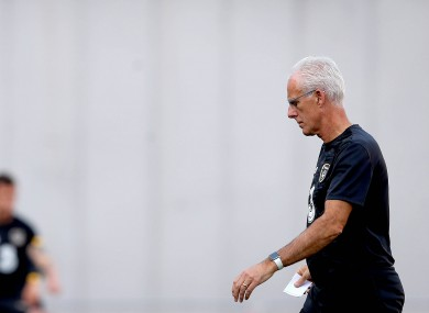 On his way out: Mick McCarthy has left the Irish job a second time, again in unwanted circumstances.