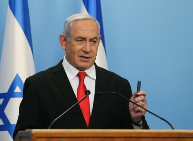 Israeli Prime Minister Benjamin Netanyahu giving a speech in March.