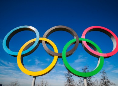 A file pic of Olympic rings.