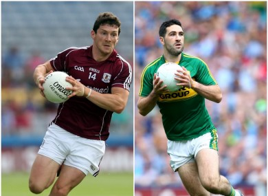 Galway's Michael Meehan and Kerry's Bryan Sheehan.