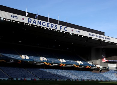 Ibrox Stadium, the home of Rangers.