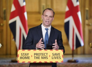 UK Foreign Secretary Dominic Raab gave today's daily press briefing at Downing Street