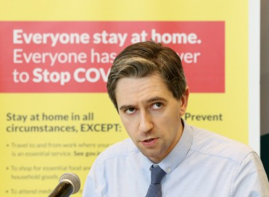 Health Minister Simon Harris said there is a major concern about people not seeking medical help throughout the crisis.