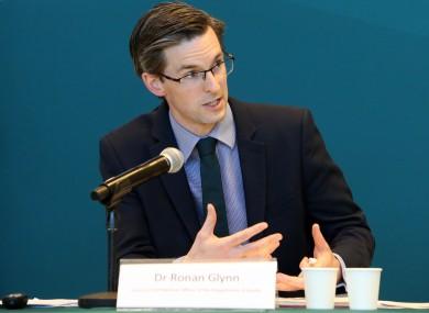 Dr Ronan Glynn at this evening's briefing.
