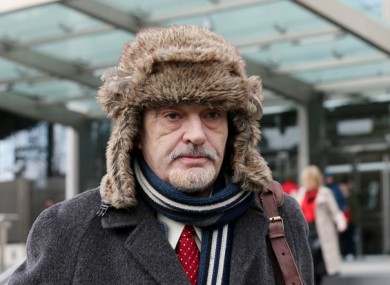 Ian Bailey leaving the High Court in February of this year.
