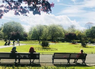 File photo. People enjoying the sun in St Stephen's Green in Dublin.