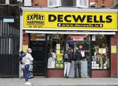 Decwells hardware store in Dublin.